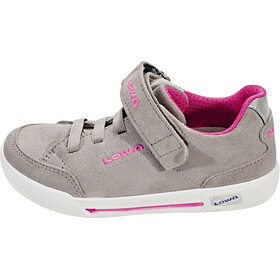 Lowa Lisboa Low Shoes Kinder light grey/fuchsia